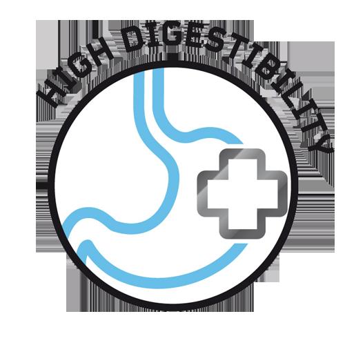 Elevada digestibilidade pelos ingredientes selecionados, como o peru e a incorporação de FOS e MOS para melhorar a digestão
